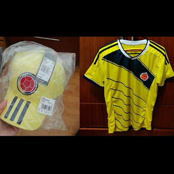cbd83e9fa6c7c Adidas Colombia national Futbol soccer hat
